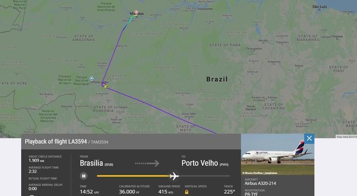 El vuelo de Latam se desvía de Porto Velho a Manaus debido al humo