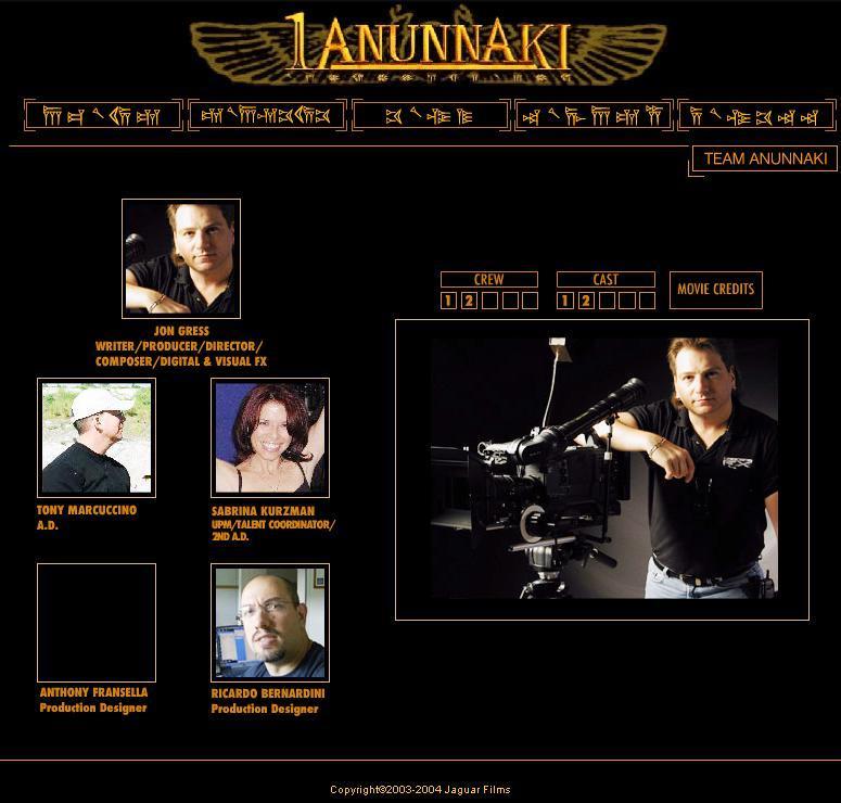 Sitio web de la película 1Anunnaki