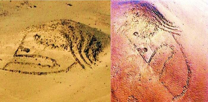 El Geoglifo de Chupacigarro datado en 3000 años de antigüedad, y que se considera como el primero en su tipo