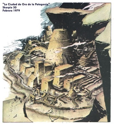 La Ciudad de los Césares retratada por el cómic argentino. Revista Skorpio, 1979