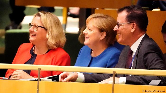 La canciller alemana, Angela Merkel, en la cumbre de la ONU en Nueva York