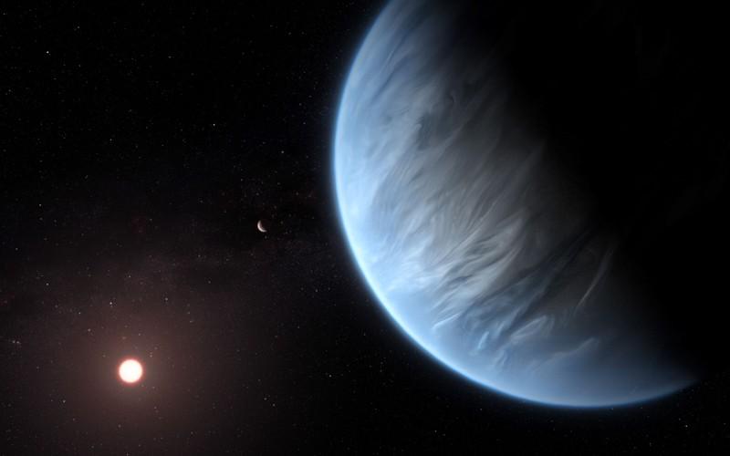 Representación artística del planeta K2-18b