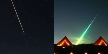 Dos objetos luminosos caen en simultáneo en Rusia y son capturados por un fotógrafo