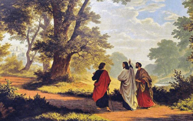 El camino de Emaús luego de la resurrección de Jesús
