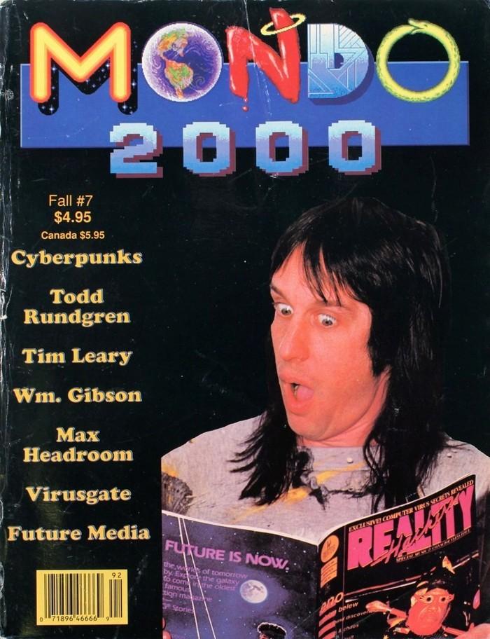 Mondo 2000, obra de Jude Milhon santa patrona de los activistas hackers, quién acuñara el término Cyberpunk