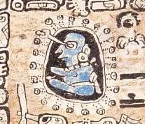Representación de un astrónomo en el Códice de Madrid
