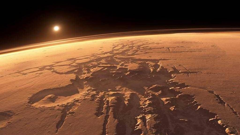 Representación artística del planeta Marte