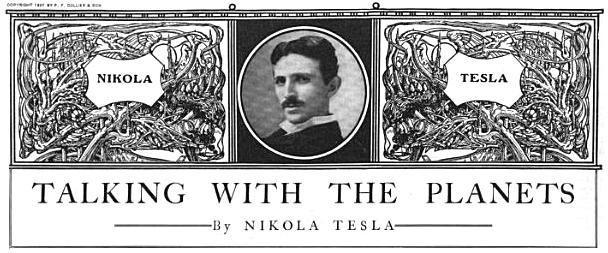 Artículo publicado en 1901, donde Tesla anunció la detección de su misteriosa señal