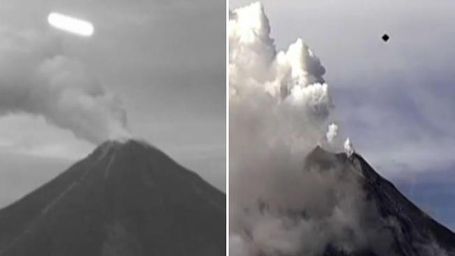 OVNIs sobre el volcán Colima