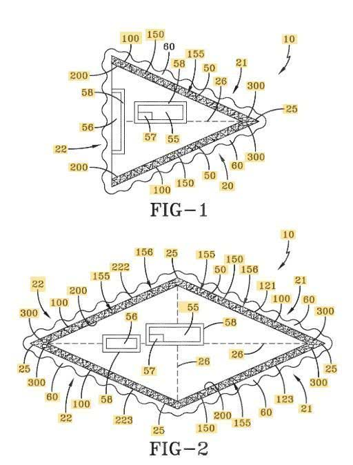 Diseños de la nave presentada en la patente