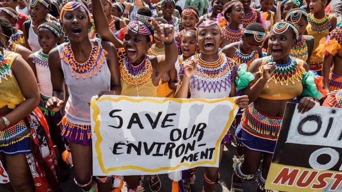 Protestas en África