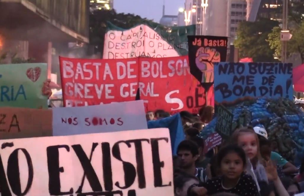 Protestas en Brasil contra Bolsonaro