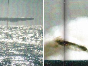 ¿OVNIs derribados en el Ártico por un submarino? Fotografías del USS Trepang de 1971
