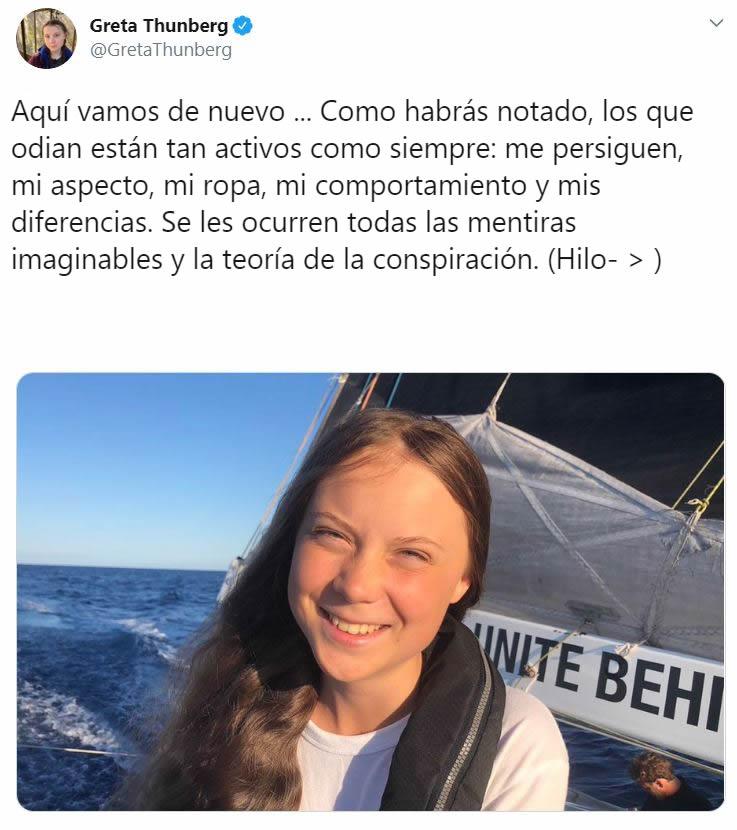 Greta Thunberg responde a los trolls que la critican e insultan en Internet