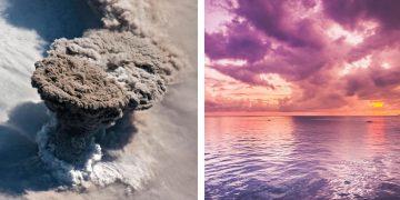 Volcán ruso hace erupción y convierte los cielos en púrpura en casi todo el mundo