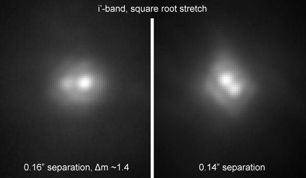 Krüger 60 fotografiado en el infrarrojo cercano y en banda z por el telescopio Robo AO