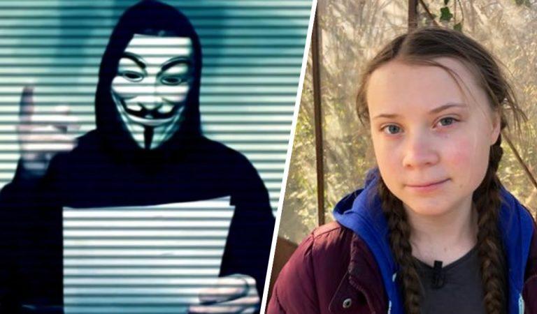 Anonymous envía un mensaje a Greta Thunberg: «ten cuidado con las personas que te rodean»