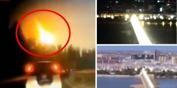 Brillante bola de fuego convierte en día la noche en China