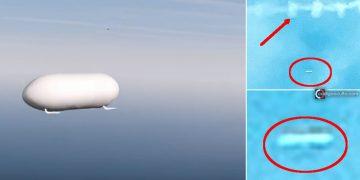 Capturan un OVNI disparado entre las nubes y siguiendo una estela química en Louisiana