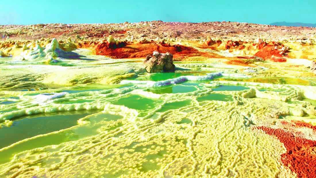 Chimeneas termales de Dallol (Etiopía): el lugar más infernal de la Tierra que acoge vida