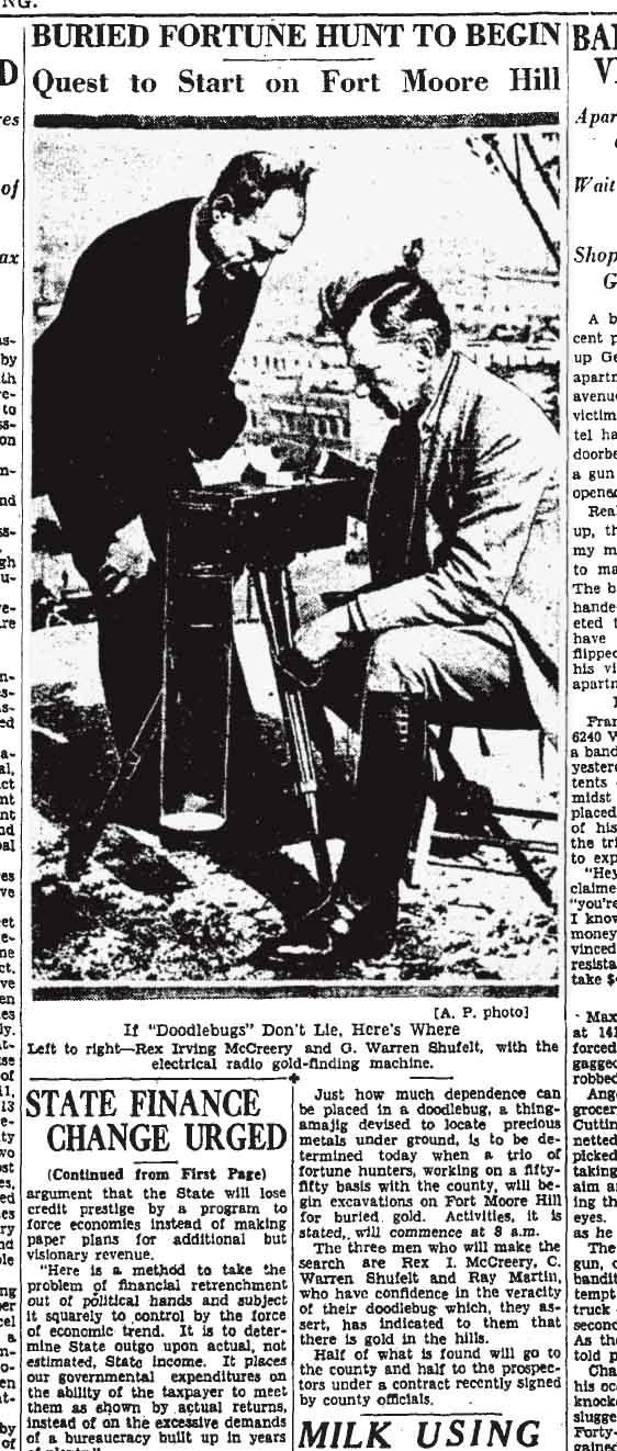 The Times informó que Rex. I. McCreery y Ray Martin proporcionaron un antiguo mapa de pergamino que muestra el imperio subterráneo del Pueblo Lagarto, que supuestamente se extendía desde la Biblioteca Central en la 5ta calle hasta el Museo del Sudoeste, que debes admitir que está cavando mucho