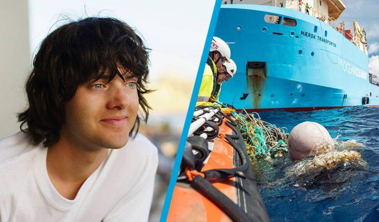 Él es Boyan Slat creador de The Ocean Cleanup y está limpiando los océanos de plástico