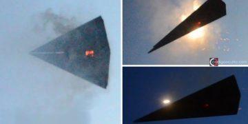¿Es esto un TR-3B visto explotando en los cielos sobre el Área 51?