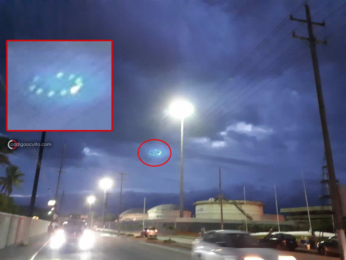 Fotografía 1: Supuesto OVNI en Maderos, Tamaulipas