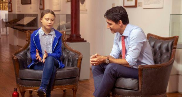 Greta Thunberg y Justin Trudeau
