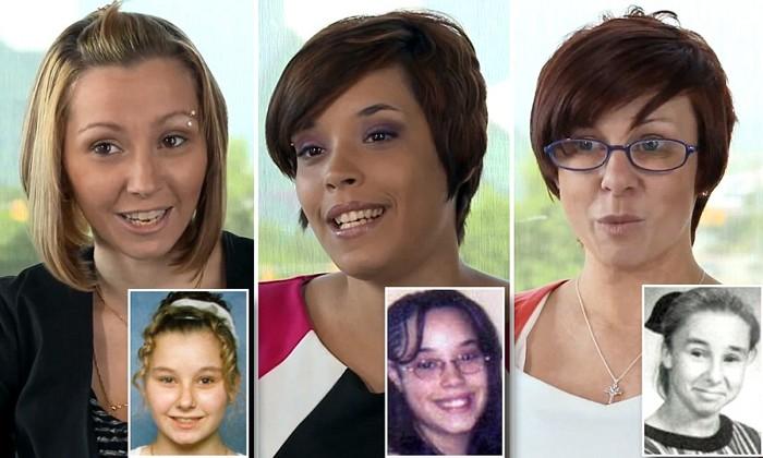 Amanda Berry, (izquierda) permaneció secuestrada junto a Gina DeJesus, 23, (centro)y Michelle Knight, 32, (derecha)
