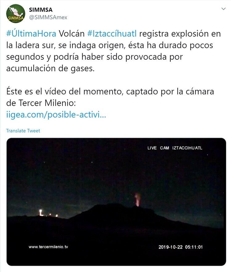 ¿Ha explotado el volcán Iztaccíhuatl? Alarma en México