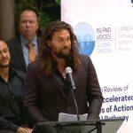 Jason Momoa dice que la humanidad «es una enfermedad» en discurso en la ONU