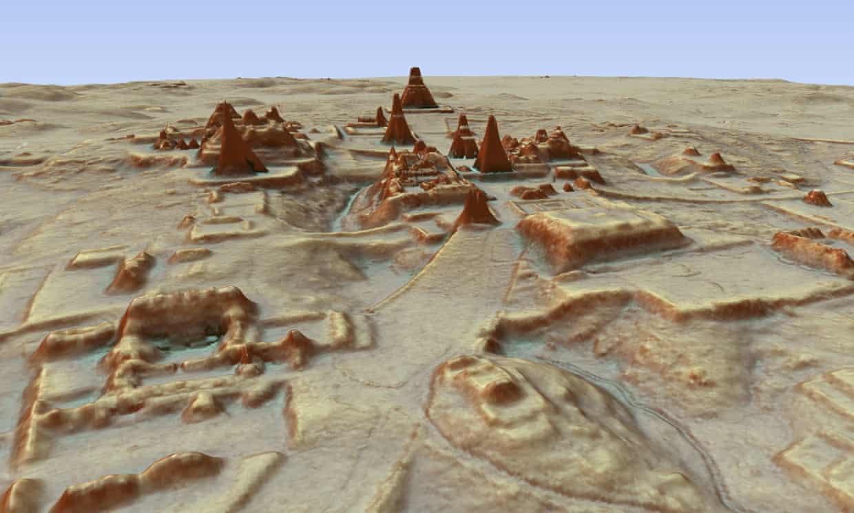 El Earth Archive planea usar Lidar, que se ha utilizado para revelar tesoros arqueológicos como la ciudad maya de Tikal (en la imagen)