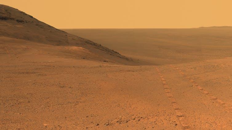 Marte fotografiado por el rover Opportunity