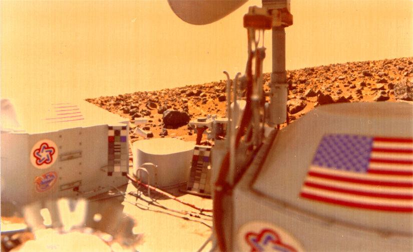 Viiking lander en Marte. De acuerdo a un ex científico de la NASA, esta nave habría encontrado vida en dicho planeta