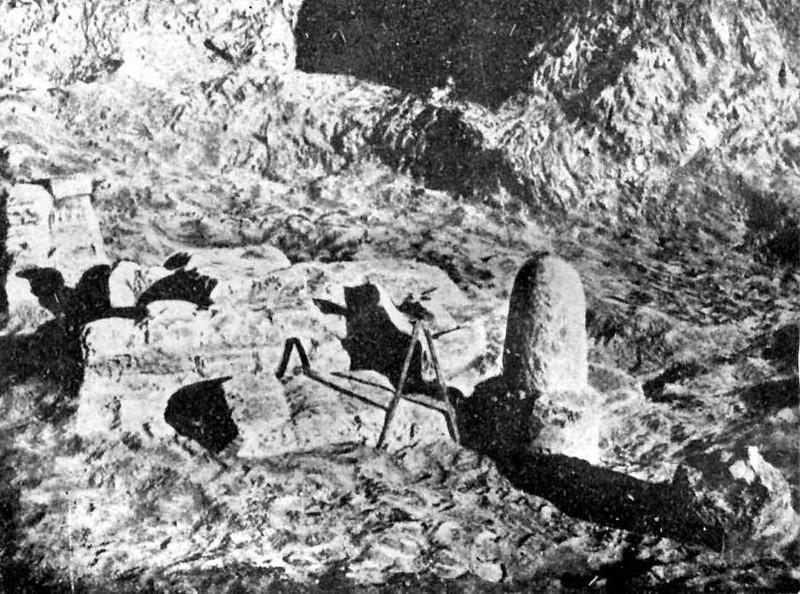 Clásica representación del Lingam, aludiendo a Shiva, descubierto en las ruinas de Harappa. Datado en 5.000 años