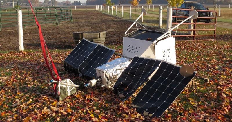 Satélite de Samsung caído en una granja de Michigan, EE.UU