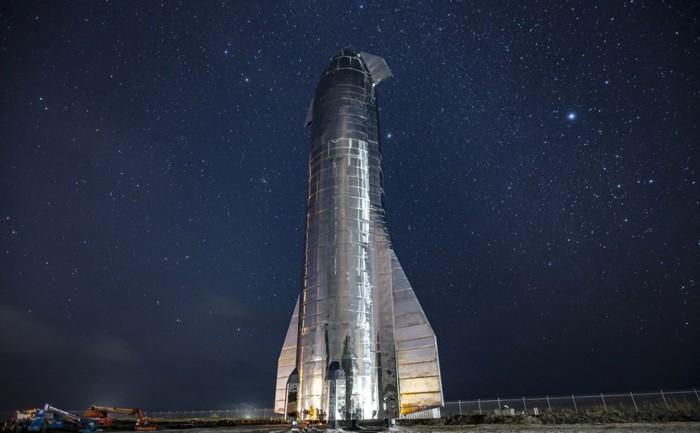 El Starship MK1 se ensambló en las instalaciones de construcción y lanzamiento de SpaceX en Texas
