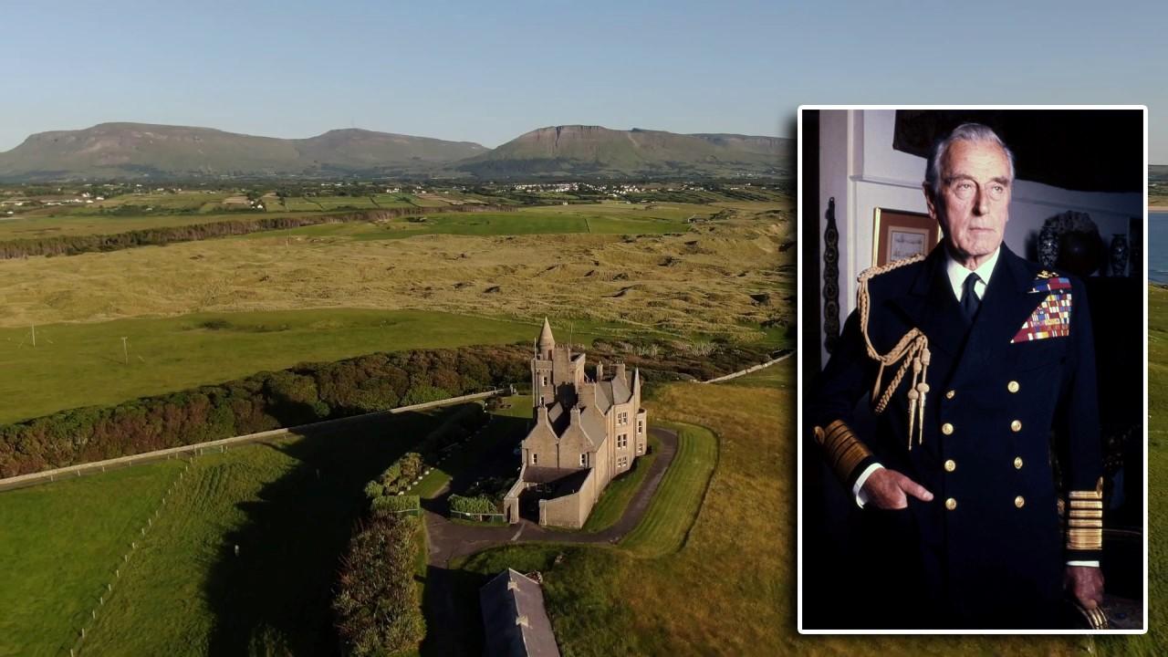 Ilustración 2 – Vista aérea del castillo Classiebawn, propiedad de Lord Mountbatten (derecha), donde se experimentaron durante años avistamientos de OVNIs, Luces, seres, etc. se encuentra en una zona de anomalías positivas muy fuertes