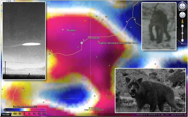 Skinwalker Ranch, actualmente propiedad de Bigelow Aerospace, es bien conocido por sus fenómenos paranormales, extrañas criaturas  y avistamientos de OVNIs. Se encuentra, también en una zona de anomalía Positiva