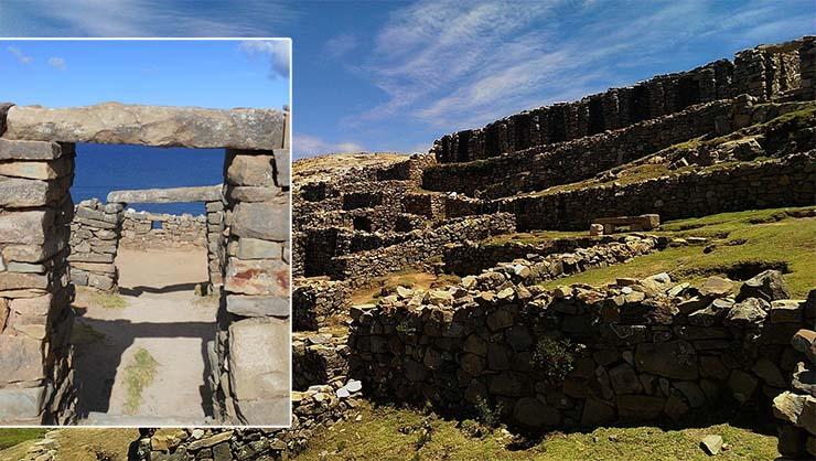 Ruinas de la Chinkana en la Isla del Sol