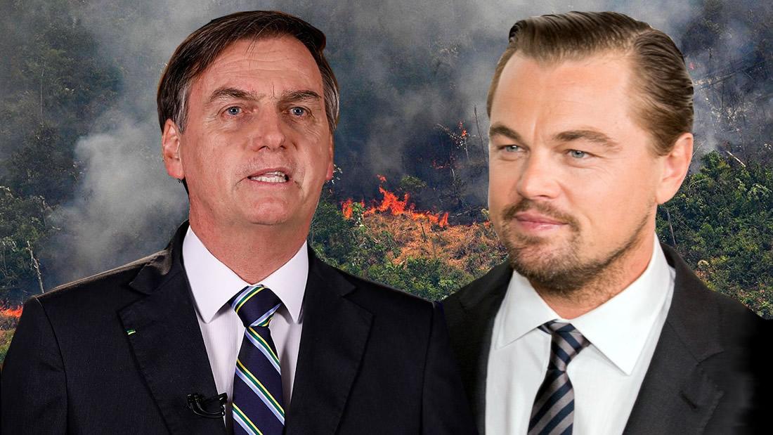 Jair Bolsonaro acusa a Leonardo DiCaprio de financiar incendios en la Amazonía
