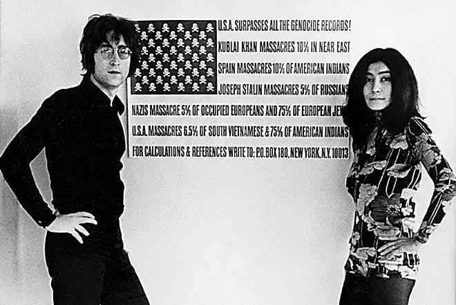 John lennon junto a su inseparable musa, Yoko Ono. Amor y activismo político