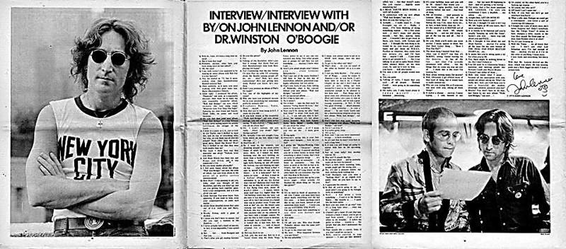Entrevista que le realizara Andy Wharlol a John Lennon en 1978