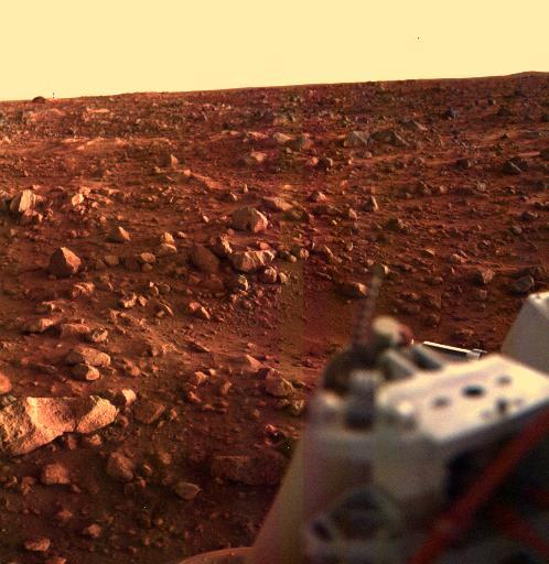 Atardecer en el sitio del Viking Lander 1, 1976