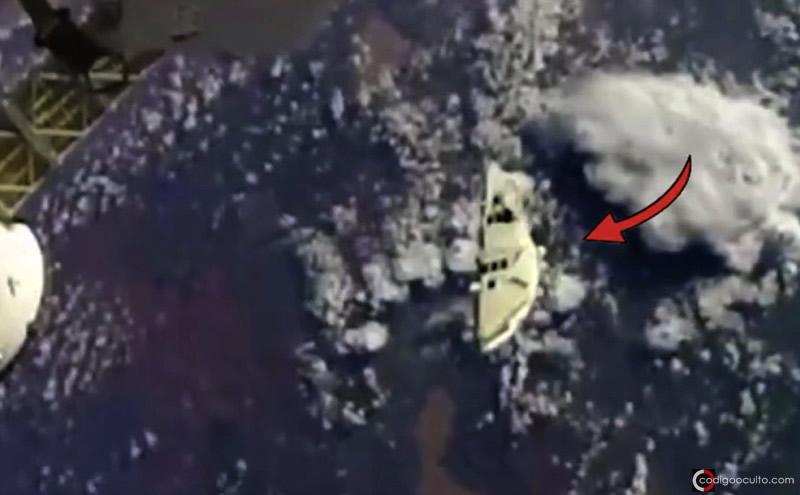 Objeto volador aparece en un vídeo capturado en el espacio.