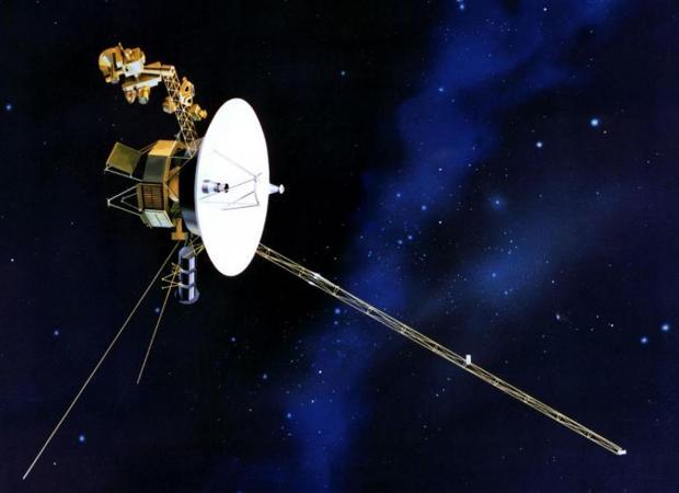 Representación artística de la sonda Voyager