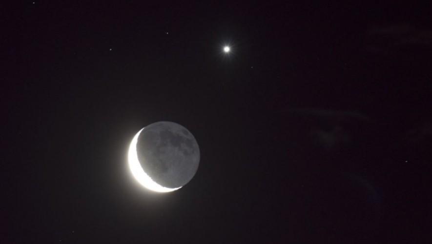 Luna y Venus estarán juntos hoy en el cielo