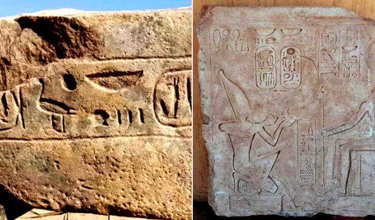 Hallan en Egipto un antiguo sitio de culto al Sol y un bloque de piedra de Ramsés II