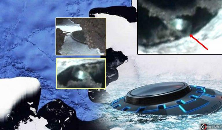 Un objeto anómalo ha sido detectado en fotografías de la Antártida